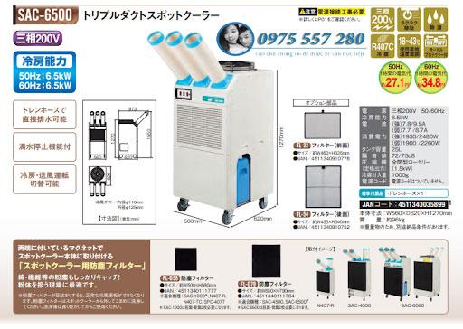 Máy lạnh inverter sac-6500