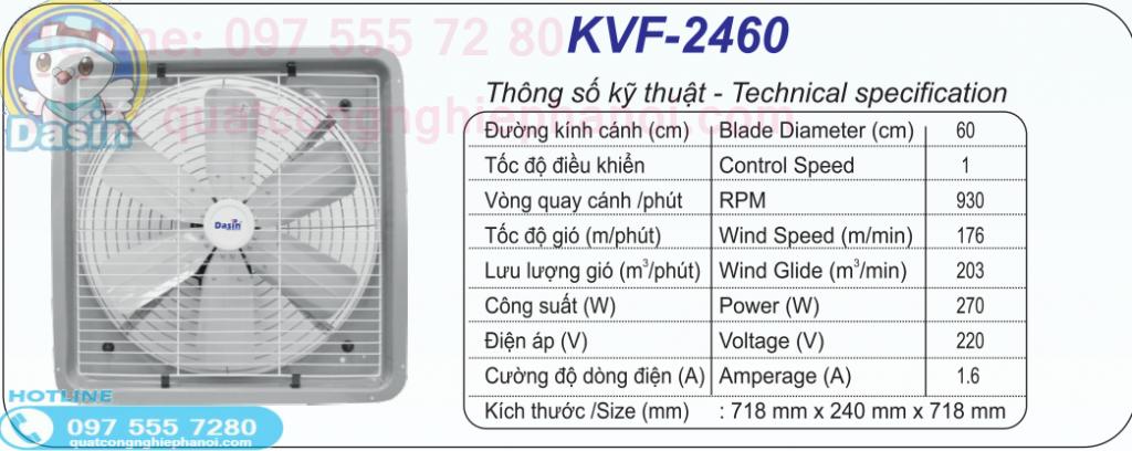 quat thong gio kvf-2460 dasin