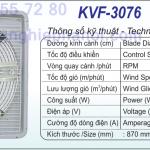 quat thong gio kvf-3076 dasin