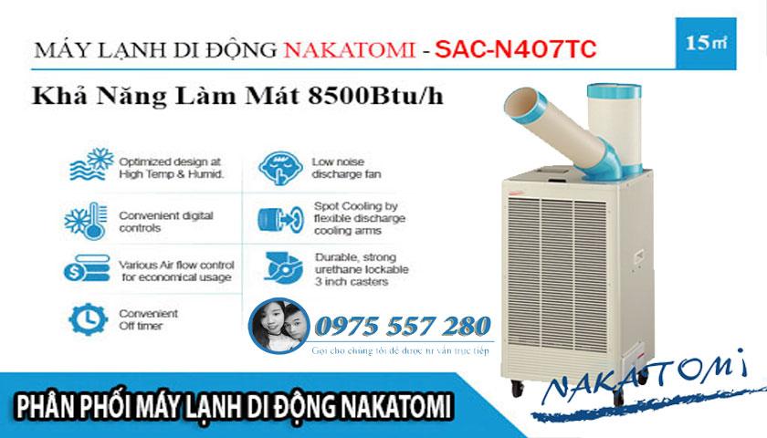 máy lạnh di động nakatomi n407 tc