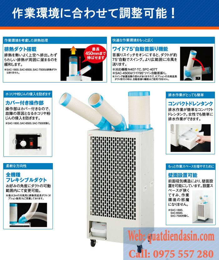 máy lạnh mini di động sac-4500